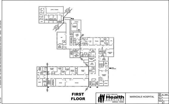Markdale Hospital floor plan