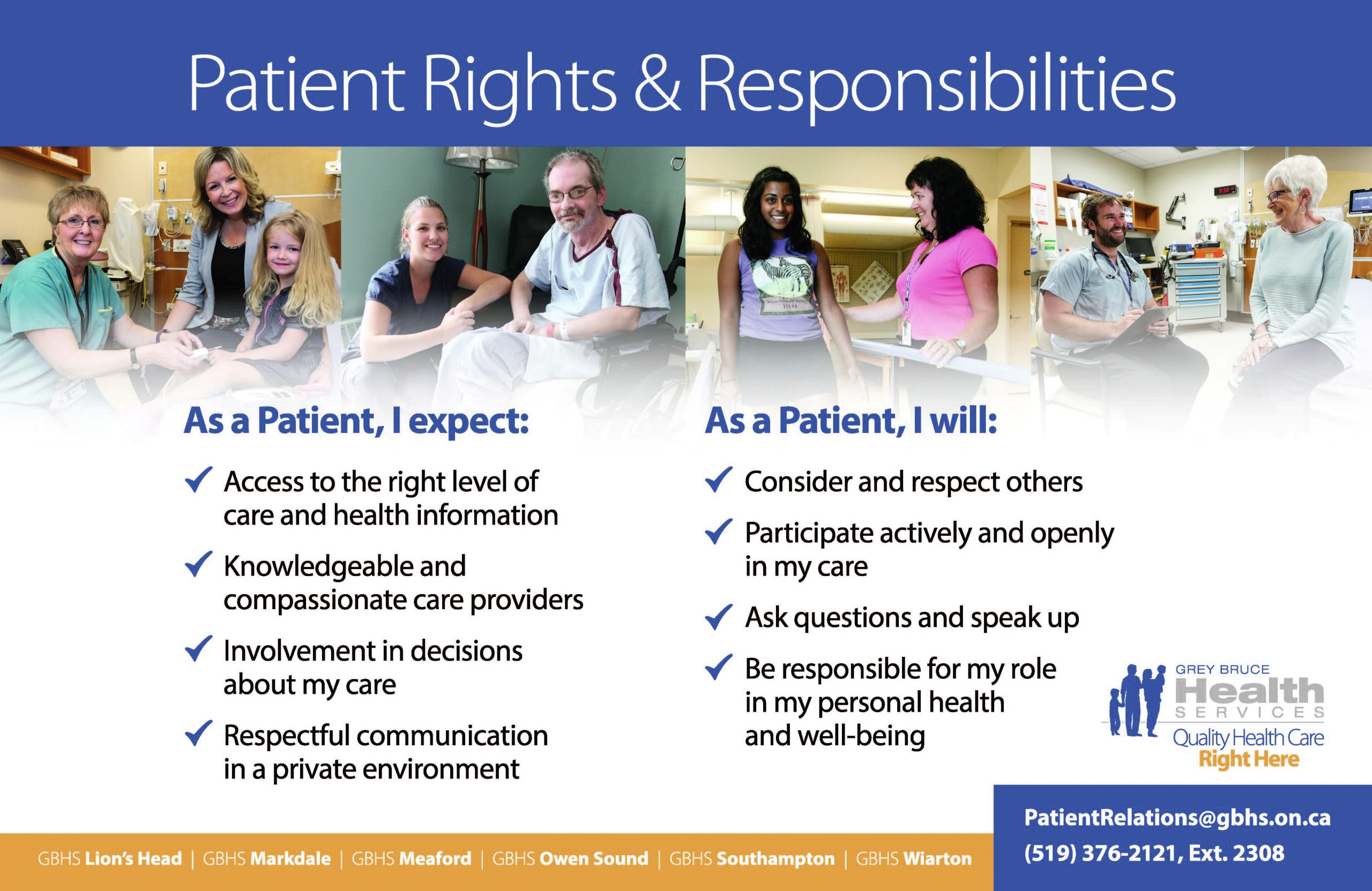 Patient Rights and Responsibilities poster