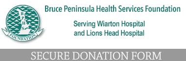 Bruce Peninsula Health Services Foundation - Secure donation form link