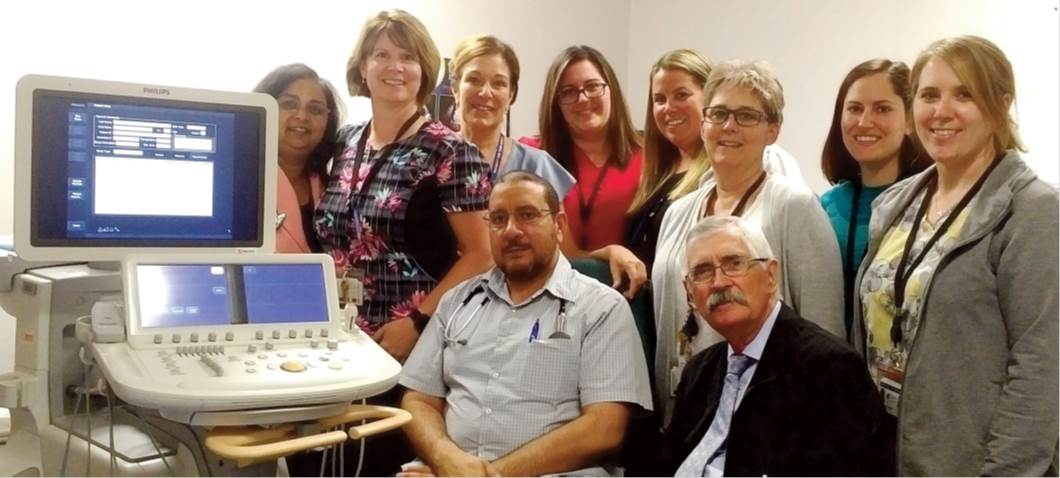 Photo of the Echocardiograpy Team