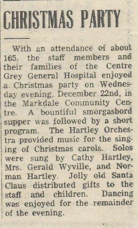 Markdale Standard Memories - Dec 30 1965
